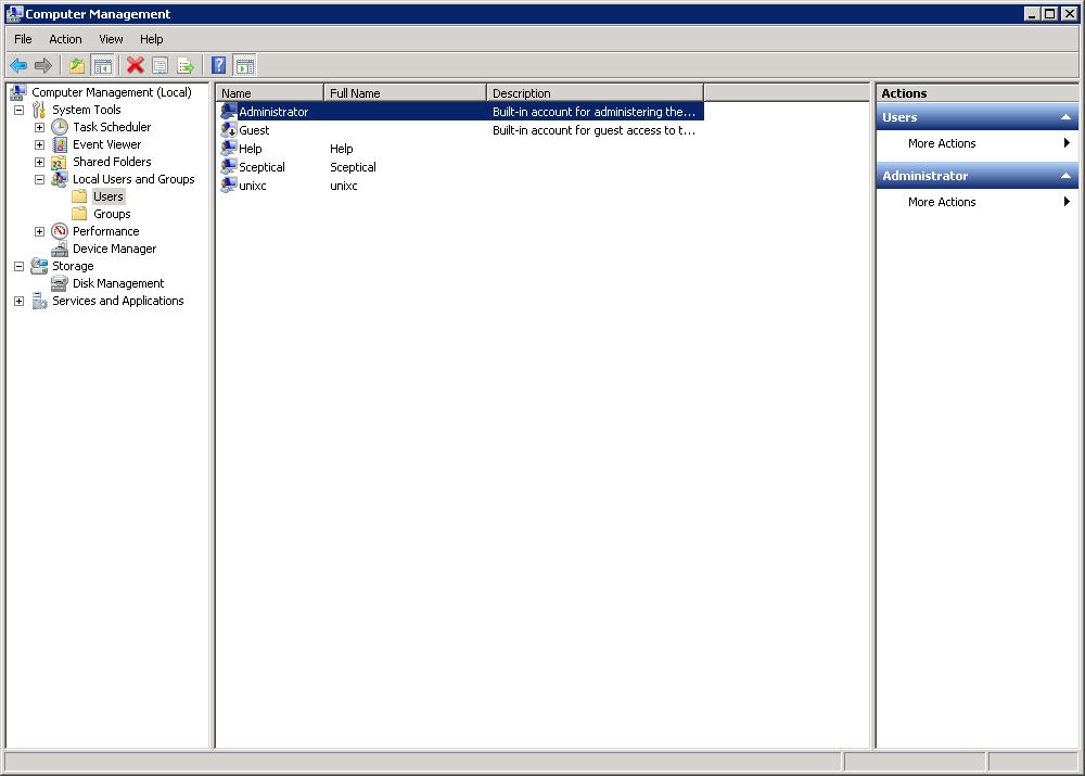 Reset password windows server 2008
